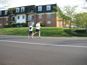 Charlottesville Half Marathon 2008 Sharyn and Ben